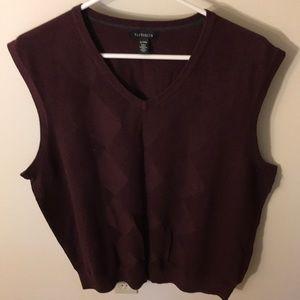 Van Heusen maroon sweater vest.